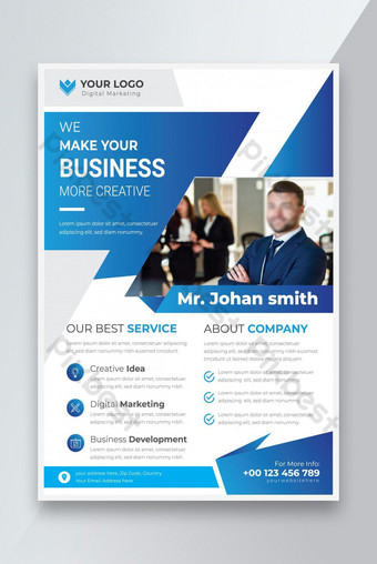 Entreprise Business Digital Marketing Agence Flyer Design Modèle EPS