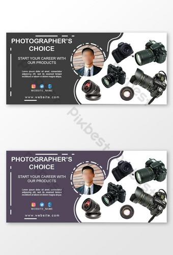 Caméra Electronics Shop Page de couverture Facebook et modèle de bannière Web Modèle PSD