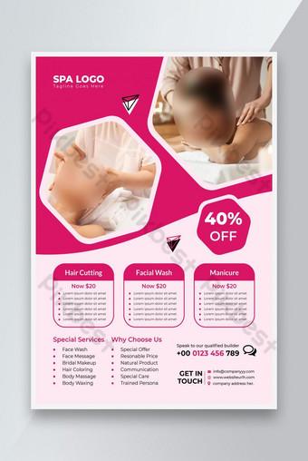 Beauty Flyer Spa Flyer Beauty and Spa Flyer Modèle Design Flyer d'affaires Modèle EPS
