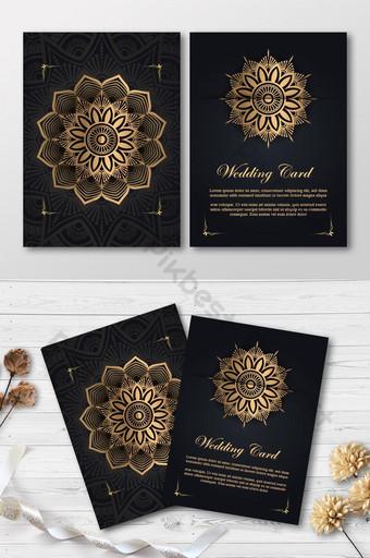 Carte de mariage de luxe élégante carte d'invitation premium élégante Modèle AI