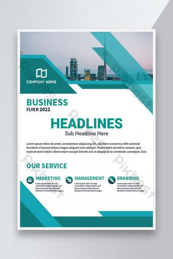 Brochure de conception de flyer d'entreprise moderne design Modèle AI