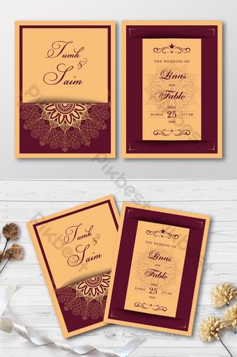 Carte de mariage de luxe moderne élégante carte d'invitation premium élégante Modèle CDR