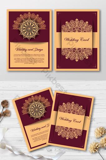 Carte de mariage de luxe moderne élégante carte d'invitation premium élégante Modèle EPS