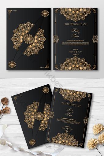 Carte de mariage de luxe élégante carte d'invitation premium élégante Modèle EPS