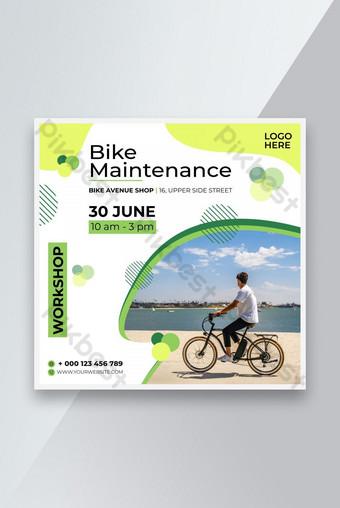 Atelier de maintenance de vélo créatif Sport Poste Instagram Modèle AI