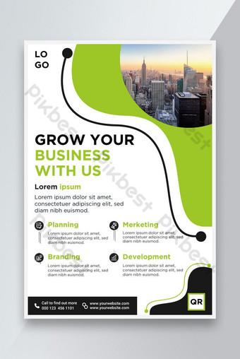 Modèle de flyer d'entreprise Brochure Couverture de la brochure design A4 Taille Modèle AI