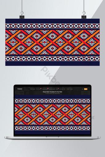 Motif de boho ethnique avec géométrique dans la conception de couleurs vives pour le papier peint de tapis Illustration Modèle AI