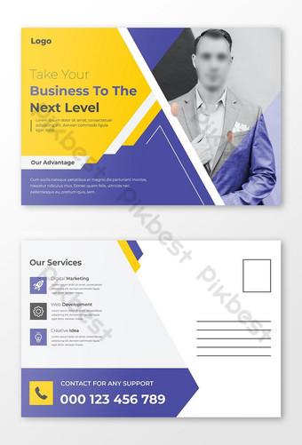 Modèle de conception de cartes postales d'affaires avec une conception moderne Modèle AI