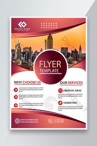 Modèle de conception de flyer d'entreprise Modèle EPS