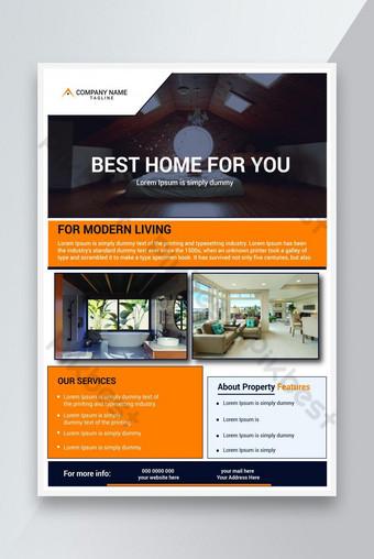 Modèle de flyer immobilier simple Modèle EPS
