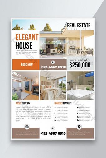 Conception de modèle de flyer créatif immobilier Modèle EPS