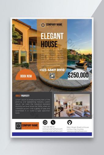 Conception de modèle de flyer immobilier créatif Modèle EPS