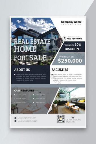 Immobilier Maison à vendre Flyer Modèle EPS