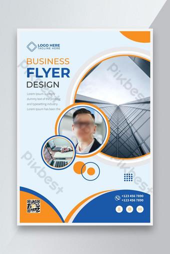 Nouveau modèle de conception de flyer d'affaires élégant 2021 Modèle AI