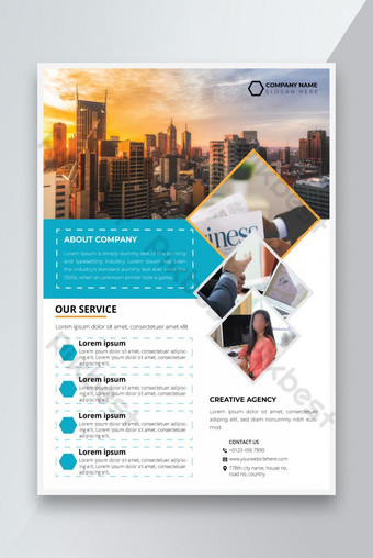 flyer d'entreprise Modèle EPS