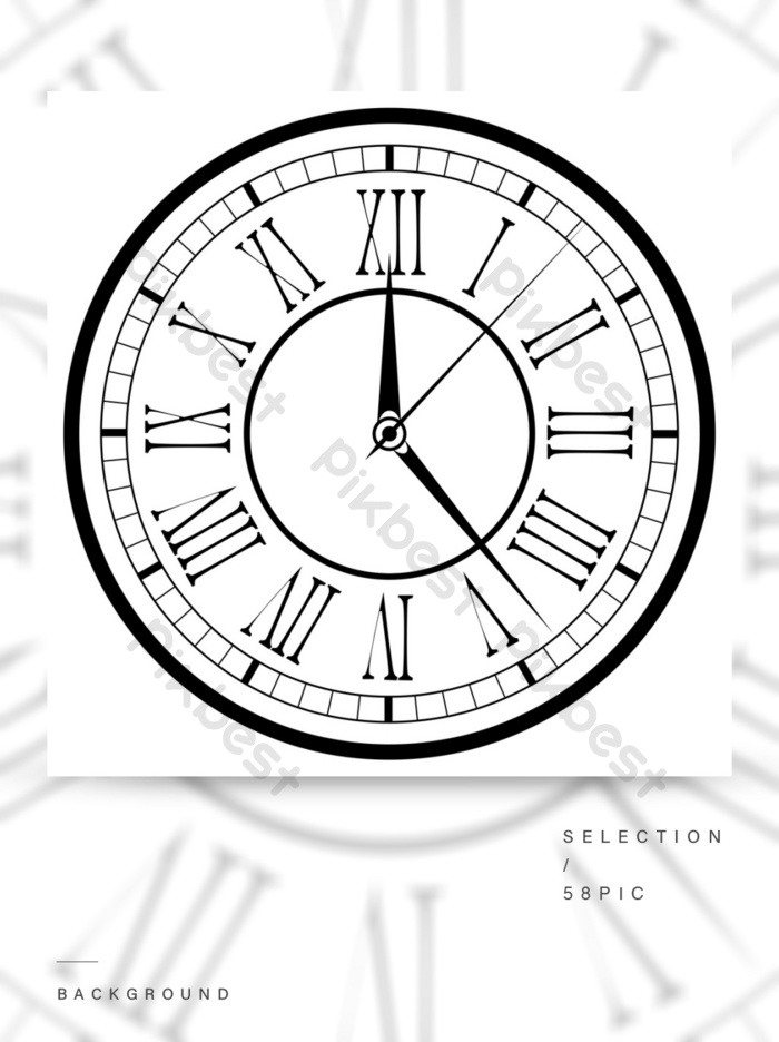 ساعة على خلفية بيضاء خلفيات Psd تحميل مجاني Pikbest