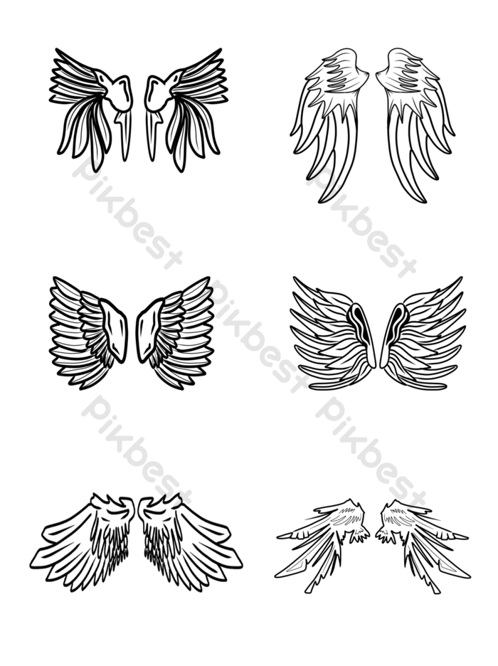 Sketch Style Bird Wings Illustration Free Png Transparent Psd Free Download Pikbest