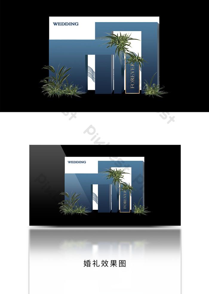 Royal Blue Dark Blue Wedding Welcome Sign In Stage Background Design Decors 3d Models Tif Free Download Pikbest