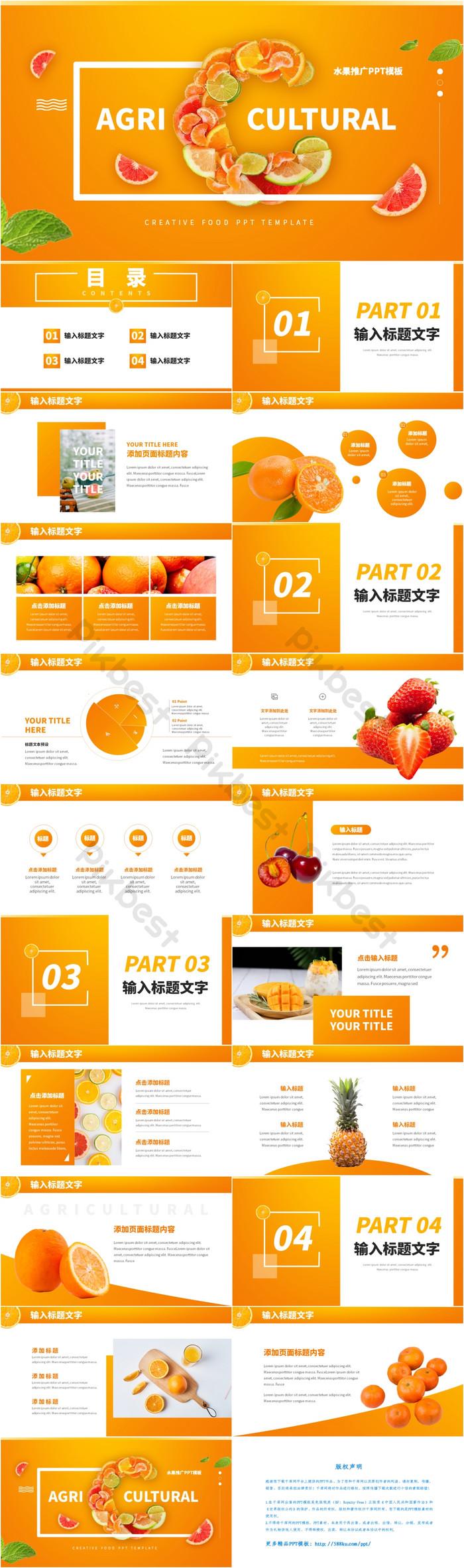 cam ppt hiển thị mẫu trái cây tươi