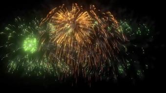 الأخضر الذهبي الألعاب النارية تتفتح القالب فيديو قالب AEP