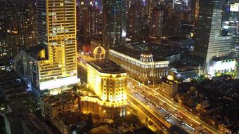 4K التصوير الجوي لتدفق حركة المرور الحضرية المرتفعة في شنغهاي فيديو قالب AEP