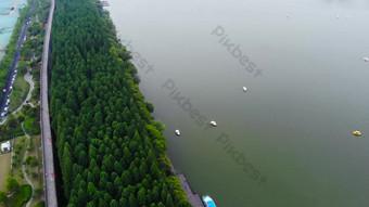 تصوير جوي 1080p مدينة بحيرة إكسوانوو السياحية فيديو قالب AEP