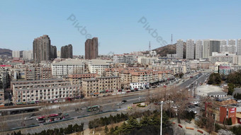 4k ультра четкая аэрофотосъемка гуманный город видео шаблон AEP