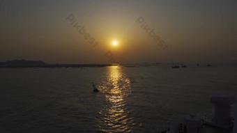 1080P120 frame slow motion Bohai Sea sunrise Video Template AEP