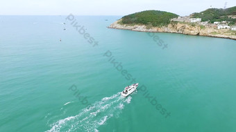 1080P aerial photography sea yacht fishing boat Video Template AEP