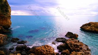 1080P tropical reef coast blue sea and blue sky HD real shot Video Template AEP