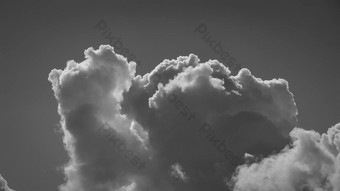 1080p منظر علوي لسحب السماء أبيض وأسود تأثير الفيديو عالي الدقة فيديو قالب AEP