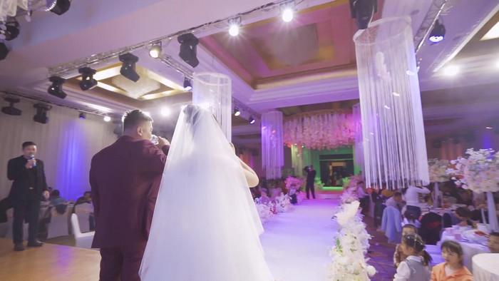 120 เฟรมฉากแต่งงานเจ้าสาวและเจ้าบ่าวกล้องปิ้ง