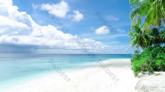 مناطق الجذب السياحي شاطئ هاينان شجرة جوز الهند فيديو عالية الدقة فيديو قالب AEP