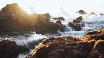1080p real shot of seaside waves hitting reefs Video Template AEP