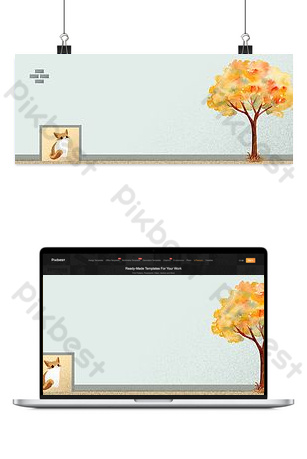 Ecommerce e-commerce September Hello autumn new poster background map Backgrounds Template PSD