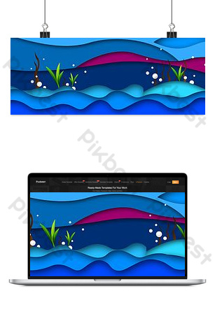 drawing water wave bottom gradient background Backgrounds Template PSD