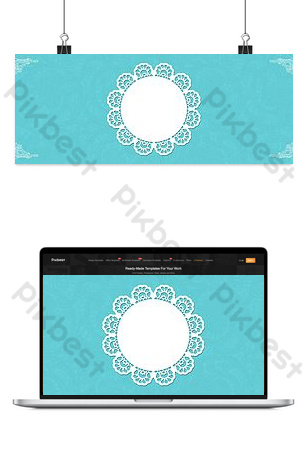 Premium blue Tiffany blue lace pattern background Backgrounds Template PSD