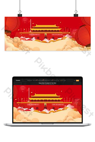 Life service red background literary poster banner background Backgrounds Template PSD