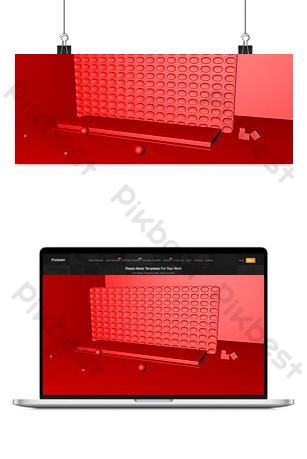 apertura de fondo rojo del escenario Fondos Modelo PSD