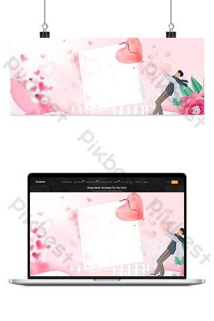 hermoso fondo romántico del día de san valentín 2165 amor rosa Fondos Modelo PSD