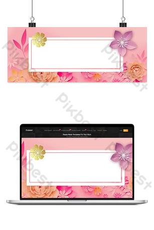 vestido de maquillaje de belleza primavera sobre fondo rosa floral nuevo Fondos Modelo PSD