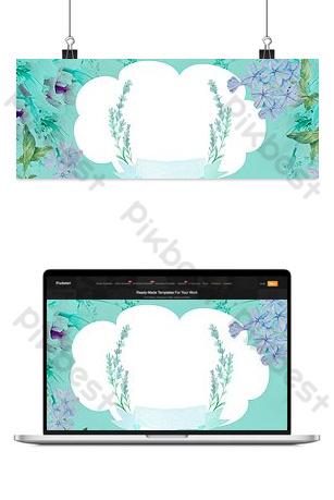 fondo de promoción de taobao del nuevo vestido de belleza floral en primavera Fondos Modelo PSD