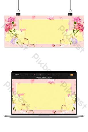 taobao lynx vẽ tay cánh hoa mẹ ngày poster nền Nền Bản mẫu PSD