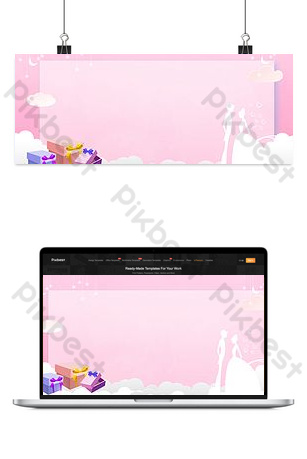 Cartel romántico de la caja de regalo de la silueta de la pareja del d Fondos Modelo PSD