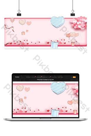 розовый изометрический воздушный шар баннер фоновое изображение Фон шаблон PSD
