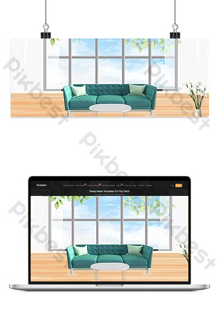 ventana de piso a techo fondo simple y fresco Fondos Modelo PSD