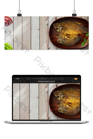 Grilled Fish Food Festival Promotion Banner Backgrounds Template PSD