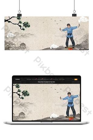 الصينية القديمة على غرار الألعاب البهلوانية شعوذة التوليف الخلفية خلفيات قالب PSD