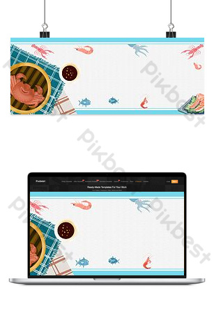 Food seafood deep sea gourmet poster background Backgrounds Template PSD