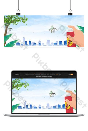 夏季蚊子海報背景 背景 模板 PSD